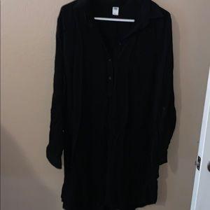 Large black Old Navy dress NWT